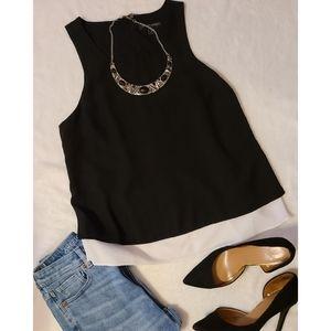 Black & White Flowy Sleeveless Top